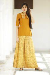 Rayon Skirt Style Palazzo With Kurti