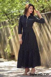 1c421b06342 Vedika Overseas Red Rayon Straight Long Dress With Jacket Style ...