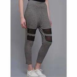 Cotton Straight Fit Ladies Mesh Leggings