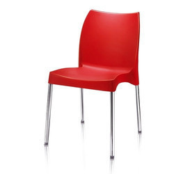 Nilkamal Novella Chair (Red) for Cafeteria & Home