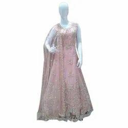 Net Ladies Pink Gown