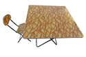 Folding Dining Table Wood Top with Chair-90x90-Tree Leaves