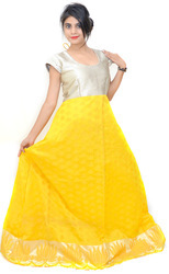 Gyanta Yellow Party Wear Long Gown