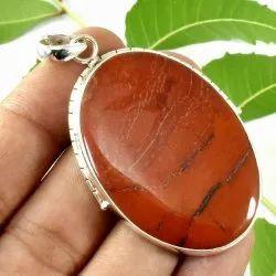 High Quality Solid Sterling Silver Red Jasper Gemstone Handmade Fine Pendant Jewelry