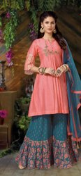 Ladies Cotton Gharara Suits