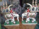 Ambawari Elephant And Horse Statues with Raja Rani