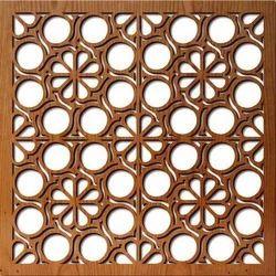 CNC Laser Cut Square Wooden Panels