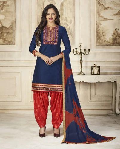 d3b08bb1fb Blissta Cotton Unstitched Patiala Salwar Suit, Rs 895 /piece | ID ...