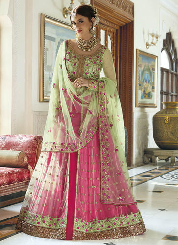 7096715e8 Semi-Stitched Georgette Latest Wedding Bridal Lehenga Choli Designs 2016