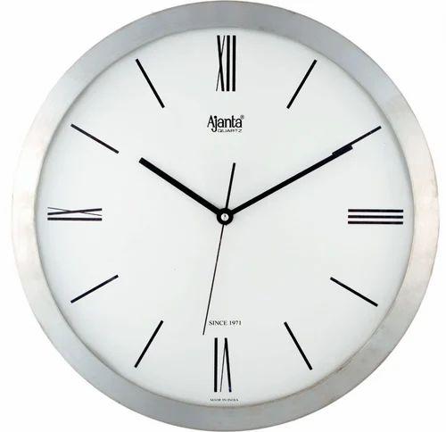 Charmant White Fiber Body Ajanta Office Wall Clock
