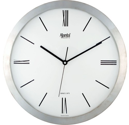 Superbe White Fiber Body Ajanta Office Wall Clock