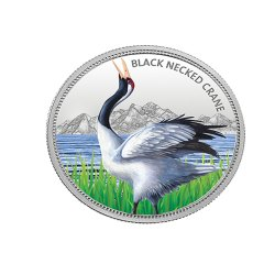 Black-Necked Crane MMTC Silver Coin 31.10 gm