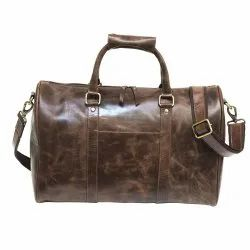 Tote Bag Glossy Brown Leather 18 Inch Travel Bag, For Multi-utility Bag, Pure Leather: Yes