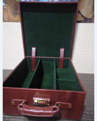 Leather Briefcase ( Wine Case)