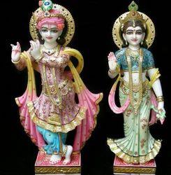 Lord Radha Krishna Marble Statue