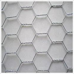 Iron Hexagonal GI Wire Mesh, Thickness: 0.71 mm