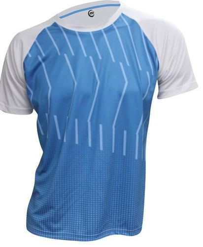 b0956f99177 Aks Sports Blue   White Front Full Sublimation Print Sports T-shirt ...