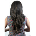 Black Golden Natural Wavy Curly Long Hair Wig