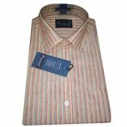 Striped Formal Wear Men's Linen Shirt