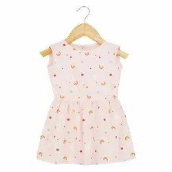 Printed Indo Western PRACHALAN Baby Girl Dress Pink