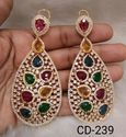Shree Gautam Creation Multi Gold American Diamond Earrings