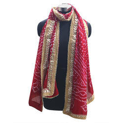 Cotton Gota Patti Bandhej Dupatta