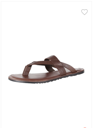 37ca46561b8f66 Men Casual Wear Van Heusen Brown Flip Flops VHMMS00806