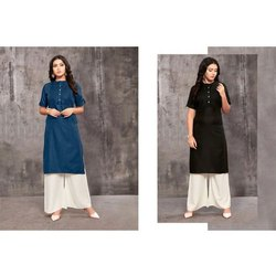 Causal Wear Cotton Straight Cut Kurti