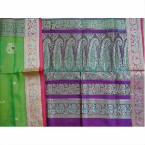 Handloom Silk Saree, Machine Made, 5.5 m (separate blouse piece)