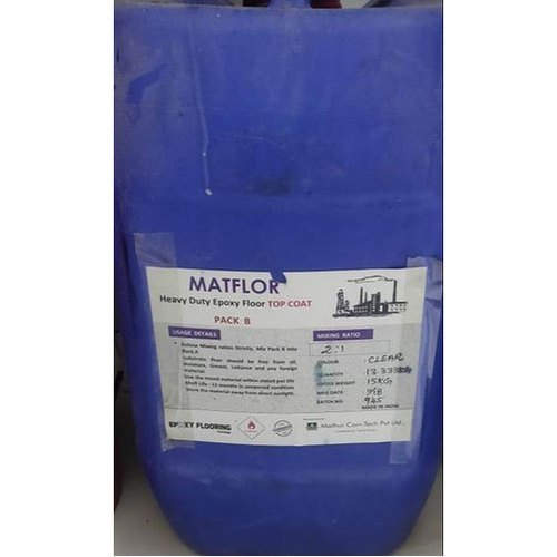 Water Based Matflor Heavy Duty Clear Epoxy Coating, Grade Standard: Chemical, Packaging Type: Plastic Container