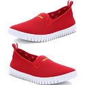 Relaxo Stylish Red Sparx Mens Shoes