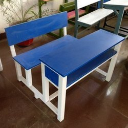 Wooden School Desk Bench