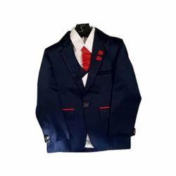 Polyester Kids Party Wear Blazer Suit
