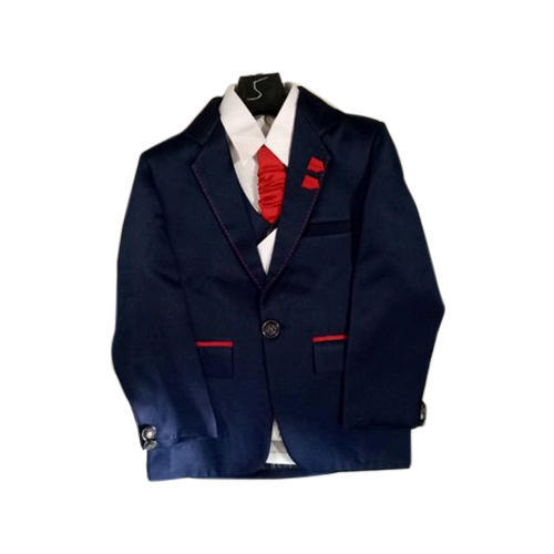 Polyester Kids Party Wear Blazer Suit