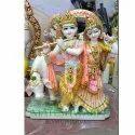 Marble Radha Krishna Cow Moorti