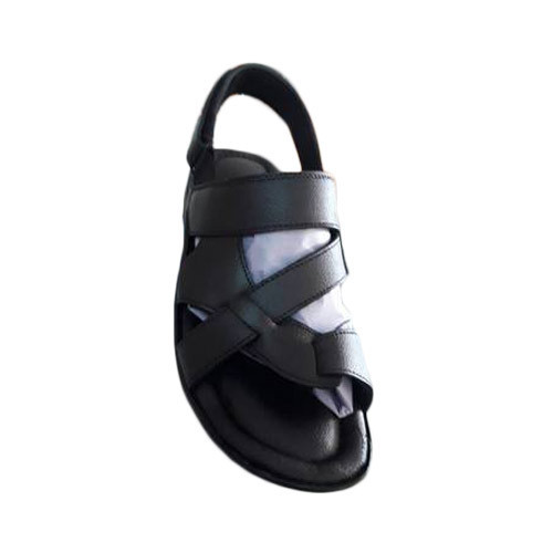 90da23a5fd8 Black Leather Sandal