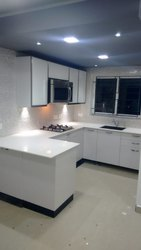 white  glass kitchen designs