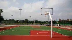 Keepfit Mild Steel Fixed Basket Ball Pole, Size: 10ft