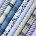 Plain Polyester Viscose Shirting Fabrics, For Garment, For Clothing