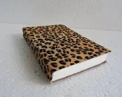 Leopard Print Designer Leather Journal
