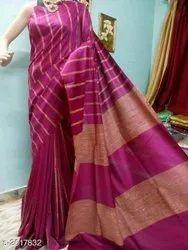 Good Quality Cotton Silk Striped Handloom Saree