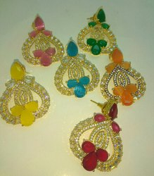 Colour Stone C.Z. Earring