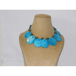 Seven Pendant Pottery Necklace