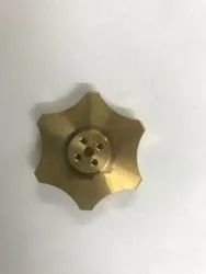 Brass CNC Machined Components, For Industrial, Hexagonal