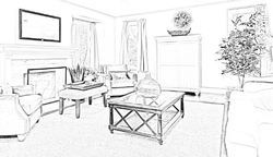 interior architecture sketches