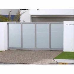 Aluminum Slide Aluminium Sliding Gate, For Home