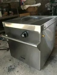 Stainless Steel Rectangular Gas Tandoor, For Restaurant