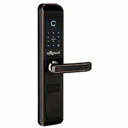 SuRotech Mortise SyRotech Fingerprint Biometric Door Handle Lock, Black