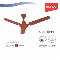 Impex Ceiling Fan (Aero King Brown)