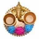 Iron Handmade Ganesha Roli Chawal Pooja Decor Ganesha Decorative Item Home Decor